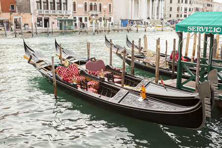 Gondola in venice in Italy with water