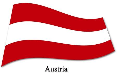 austrian flag: Austrian flag Stock Photo