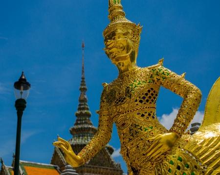 Giant guardian at Wat Phra Kaew,Bangkok photo
