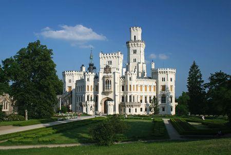 nad': Hluboka nad Vltavou castle near Ceske Budejovice, Czech Republic Stock Photo