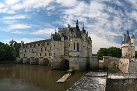 The Chateau de Chenonceau, Loire Valley, France photo