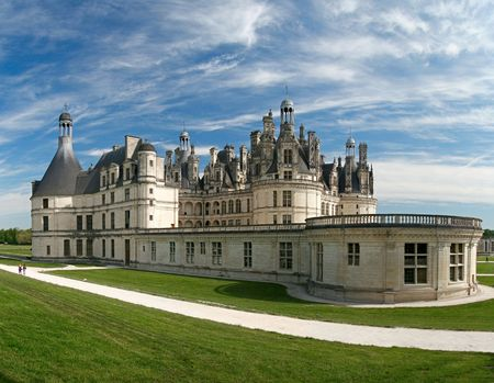 chateau: Chambord Castle on the Loire River. France. Europe