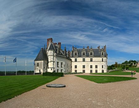 aristocratic: The chateau of Amboise in the Loire valley, France
