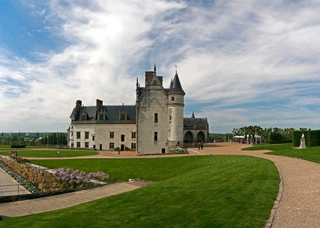The chateau of Amboise in the Loire valley, France photo