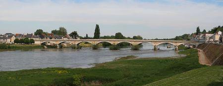 loire: View of bridge in Loire valley