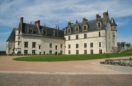 loire: The chateau of Amboise in the Loire valley, France