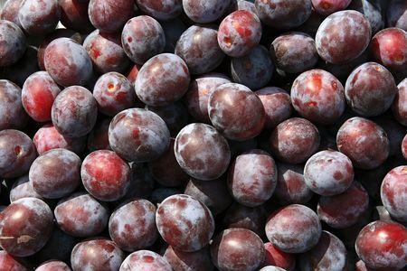 Close-ups of fresh plums. Natural source of vitamins Stock Photo