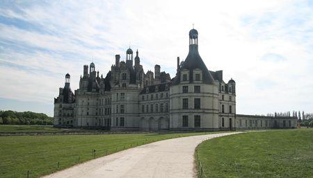 Chambord Castle on the Loire River. France. photo