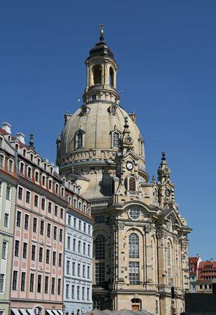 The Dresdner Frauenkirche Stock Photo
