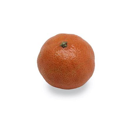 Mandarin orange, isolated on white  photo
