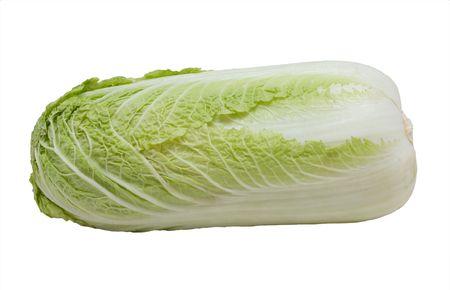 nappa: Napa cabbage, isolated on the white background Stock Photo
