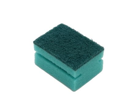 Cleaning sponge, isolated on the white background photo