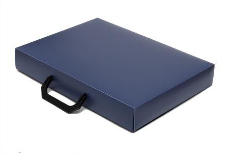 attache case: Attache case, isolated on a white background Stock Photo