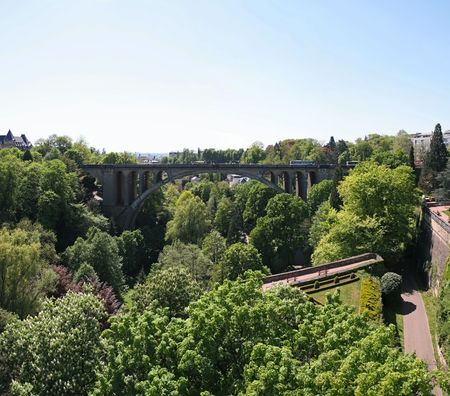 Pont Adolphe Bridge is an arch bridge in Luxembourg City, in southern Luxembourg Stock Photo - 4455809