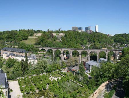 Luxembourg, Viaduc de Pfaffenthal Stock Photo