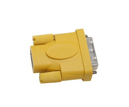 HDMI-DVI connector, isolated on white background photo