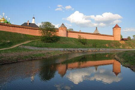 The Saviour Monastery of St. Euthymius is a monastery in Suzdal, Golden Ring. Russia.  photo