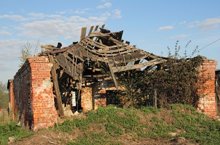 Remains of a building which had collapsed Stock Photo - 4869677