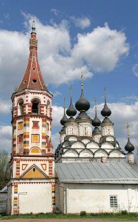 lazarus: Antipius (1667) and Lazarus (1745) Churches. Suzdal. Golden Ring, Russia