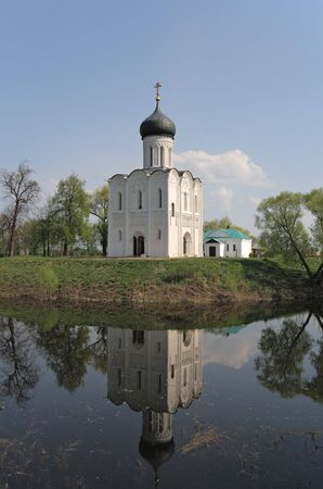 intercession: The Church of the Intercession of the Holy Virgin on the Nerl River. Bogolubovo, Golden Ring. Russia
