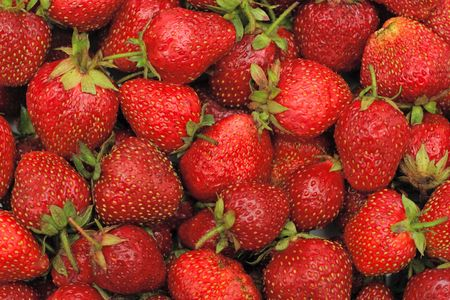 deliciously: Deliciously color rich luscious strawberries