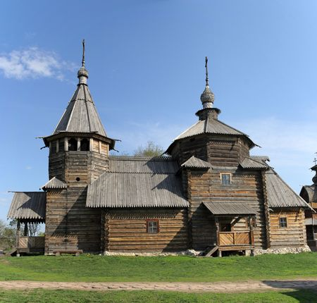 transfiguration: Transfiguration Church from village Kozliatyevo (1756), Museum of Wooden Architecture, Suzdal. Golden Ring, Russia Stock Photo