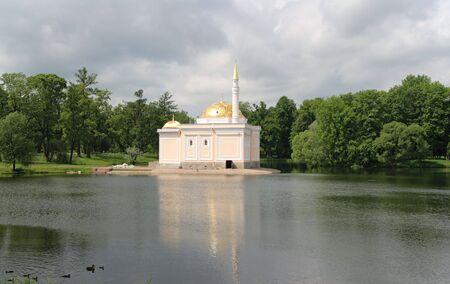 tsarskoye: The Turkish Bath Pavilion.Designed by I.Monighetti 1850-52. Tsarskoye Selo (Pushkin), St. Petersburg, Russia.