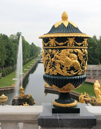 The Sampson Fountain, a monument to the victory in the Battle of Poltava. Peterhof, near St Petersburg, Russia. Stock Photo - 5215686