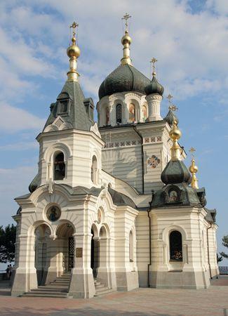 eminence: The Church of the Resurrection of Christ (Church On The Rock), Foros, Crimea, Ukraine.