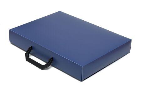 attache: Attache case, isolated on a white background Stock Photo