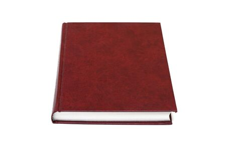 Red business Diary, isolated on a white background Stock Photo - 5629817