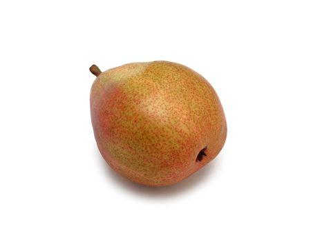 "anjou: Tasty verde pera madura ""Anjou"", aislada en un backround blanco"