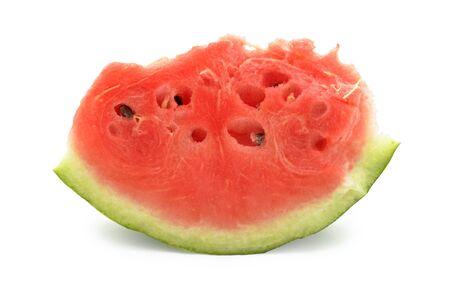 Slice of watermelon, isolated on white background photo