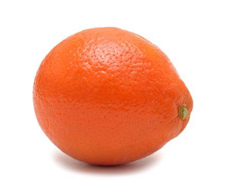 Mandarin orange, isolated on a white background photo