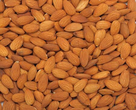Almonds textured background