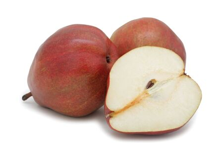 Red pears, isolated on a white background