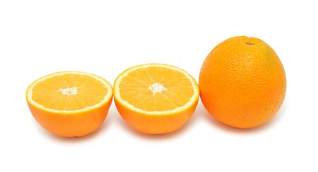Oranges, isolated on a white background