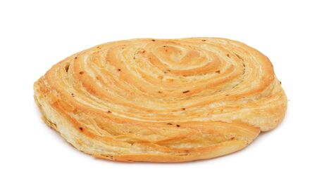 Loaf of baked hand-made bread, isolated on a white background Stock Photo - 6367349