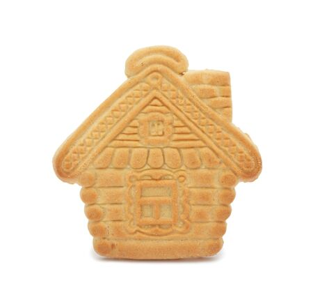 home baked: Cookie house, isolated on a white background