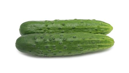 Cucumbers, isolated on a white background photo