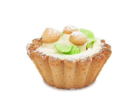 Cream cake Mushroom Glade, isolated on a white background photo