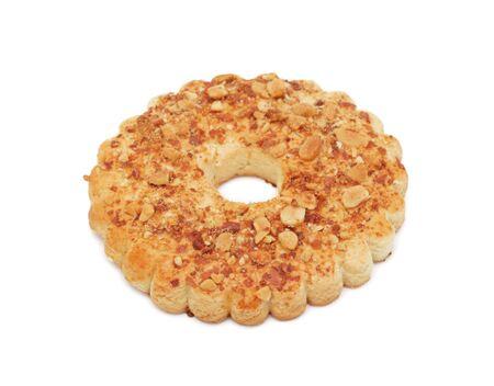 Nut Ring Cake, isolated on a white background photo