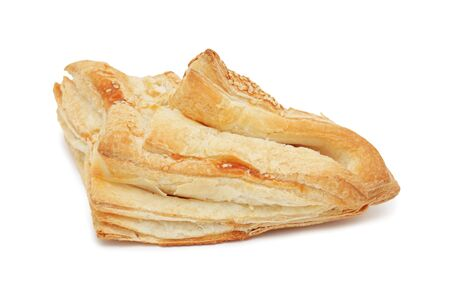 Puff pastry, isolated on a white background photo