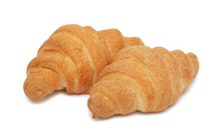 Croissants, isolated on a white background photo