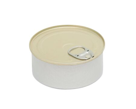 Tin can, isolated on a white background