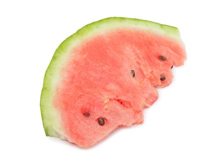 Slice of watermelon, isolated on white background Stock Photo - 7758999
