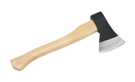 Axe, isolated on a white background photo