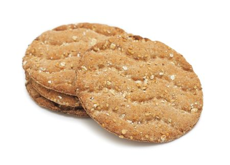 Multigrain crispbread, isolated on a white background Stock Photo - 7759020