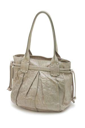 Grey handbag , isolated on a white background