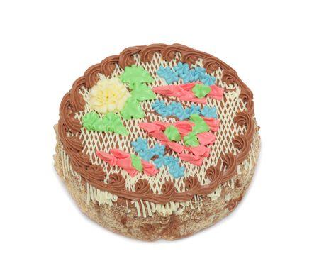 Kiev cake, isolated on a white background Stock Photo - 8085152